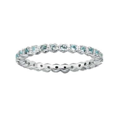 jcpenney.com | Personally Stackable Genuine Aquamarine Sterling Silver Eternity Ring