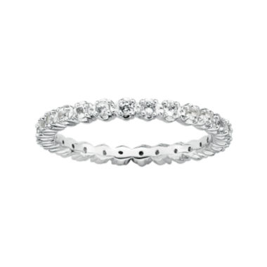 jcpenney.com | Personally Stackable White Topaz Sterling Silver Eternity Ring