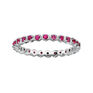 jcpenney.com | Personally Stackable Lab-Created Ruby Sterling Silver Eternity Ring