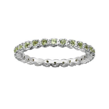 jcpenney.com | Personally Stackable Genuine Peridot Sterling Silver Eternity Ring