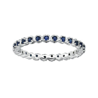 jcpenney.com | Personally Stackable Lab-Created Sapphire Sterling Silver Eternity Ring