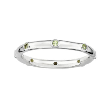 jcpenney.com | Personally Stackable Genuine Peridot Sterling Silver Station Ring
