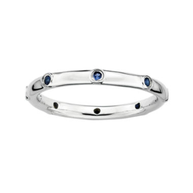 jcpenney.com | Personally Stackable Lab-Created Blue Sapphire Sterling Silver Station Ring
