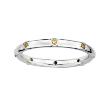 jcpenney.com | Personally Stackable Genuine Citrine Sterling Silver Station Ring