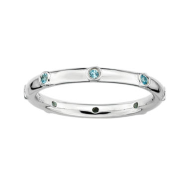 jcpenney.com | Personally Stackable Genuine Blue Topaz Sterling Silver Station Ring