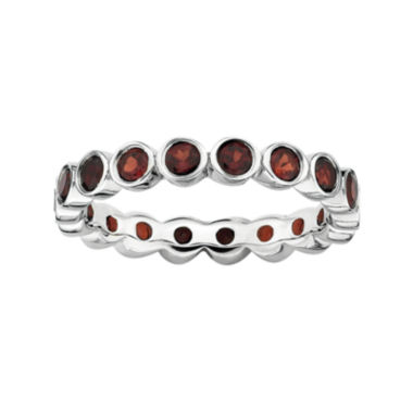 jcpenney.com | Personally Stackable Genuine Garnet Sterling Silver Eternity Ring