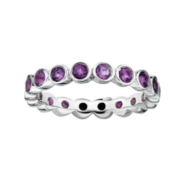 jcpenney.com | Personally Stackable Genuine Amethyst Sterling Silver Eternity Ring