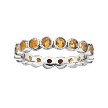 jcpenney.com | Personally Stackable Genuine Citrine Sterling Silver Eternity Ring