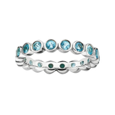 jcpenney.com | Personally Stackable Genuine Blue Topaz Sterling Silver Eternity Ring
