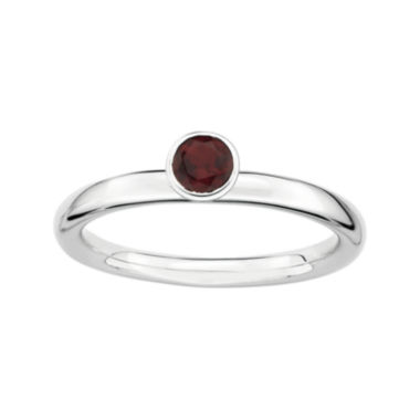 jcpenney.com | Personally Stackable Genuine Garnet Sterling Silver High Stackable Ring