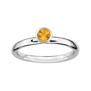 jcpenney.com | Personally Stackable Genuine Citrine Sterling Silver Ring
