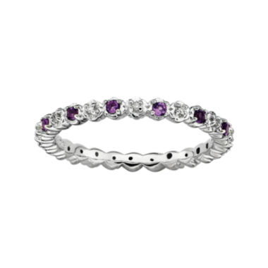 jcpenney.com | Personally Stackable Genuine Amethyst and Diamond-Accent Eternity Ring