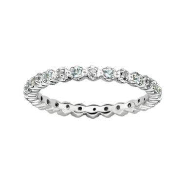 jcpenney.com | Personally Stackable Genuine Aquamarine & Diamond-Accent Eternity Ring