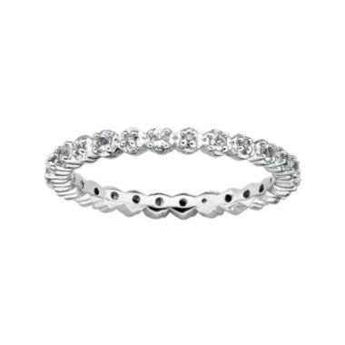 jcpenney.com | Personally Stackable Genuine White Topaz & Diamond-Accent Eternity Ring