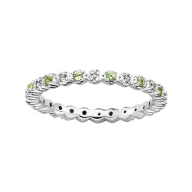 jcpenney.com | Personally Stackable Genuine Peridot & Diamond-Accent Eternity Ring