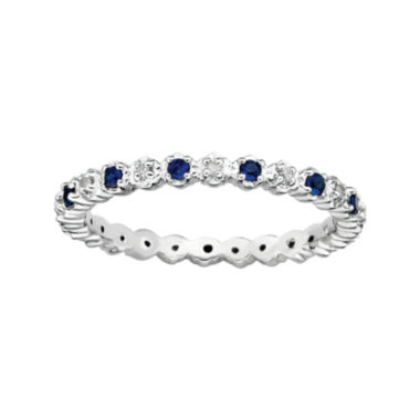 jcpenney.com | Personally Stackable Lab-Created Sapphire & Diamond-Accent Eternity Ring