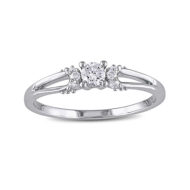 jcpenney.com | 1/5 CT. T.W. Diamond 10K White Gold Promise Ring