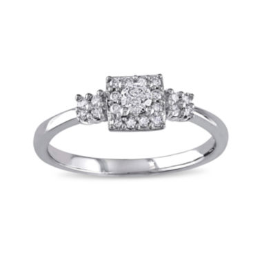 jcpenney.com | 1/4 CT. T.W. Diamond 10K White Gold Bridal Ring