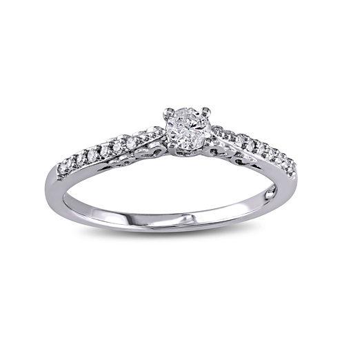 1/4 CT. T.W. Diamond 10K White Gold Bridal Ring