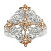 Vintage Inspirations™ 1/10 CT. T.W. Diamond Two-Tone Ring