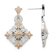 Vintage Inspirations™ 1/10 CT. T.W. Diamond Two-Tone Earrings