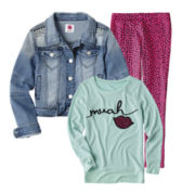 Total Girl® Sweatshirt, Leggings or Denim Jacket - Girls