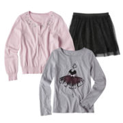 Total Girl® Tee, Cardigan or Tulle Skirt - Girls