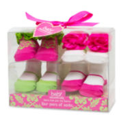 4-pk. Pink and Lime Socks - Girls One Size