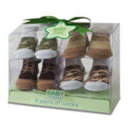 4-pk. Camo Boot Socks - Boys One Size