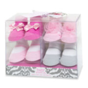 4-pk. Pink and White Socks – Girls One Size