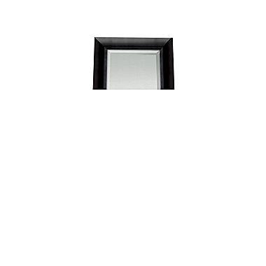 . Satin Black Beveled Full Length Wall Mirror