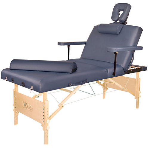 "Master® Massage 31"" Coronado Pro Salon Portable Massage Table Beauty Bed Pacakge Royal Blue"