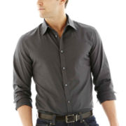 JF J. Ferrar® Long-Sleeve Satin Stripe Shirt