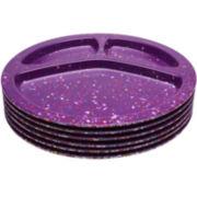 Zak Designs® Confetti Set of 6 Divided BBQ Plates