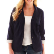 jcp™ Knit Blazer - Plus