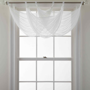 jcpenney.com | MarthaWindow™ Voile Tab-Top Waterfall Valance