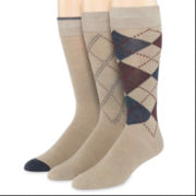 Dockers® 3-pk. Metro Argyle Crew Socks–Big & Tall