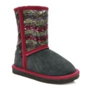 Lamo Sequin Girls Suede Boots - Little Kids/Big Kids