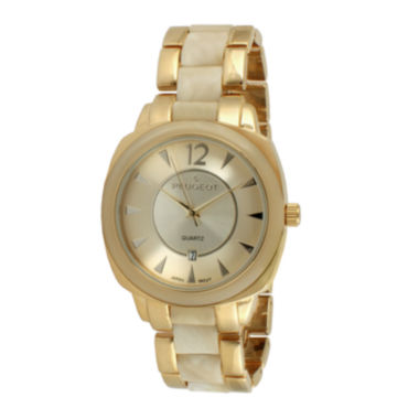 jcpenney.com | Peugeot® Womens Two-Tone Bracelet Watch 7096GCR