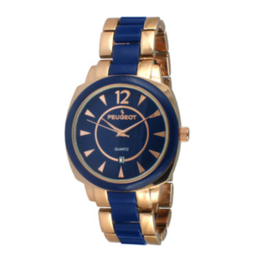 jcpenney.com | Peugeot® Womens Two-Tone Bracelet Watch 7096RBL