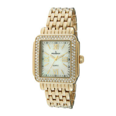 jcpenney.com | Peugeot® Womens Crystal-Accent Panther-Link Watch 7080G