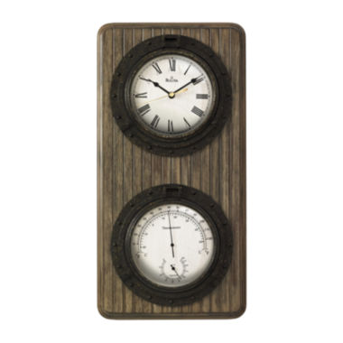 jcpenney.com | Bulova® Monterey Rectangular Multifunction Wall Clock