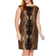 Studio 1® Sleeveless Foil Sheath Dress - Plus