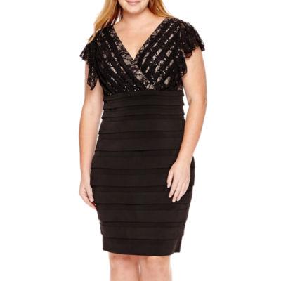 Melrose Flutter Sleeve Dress