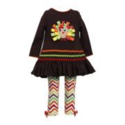 Bonnie Jean® Turkey Tunic and Leggings - Baby Girls newborn-24m