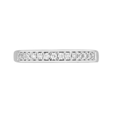 jcpenney.com | 1/4 CT. T.W. Diamond 10K White Gold Wedding Band