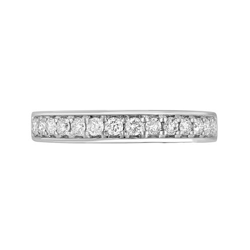 1/2 CT. T.W. Diamond 10K White Gold Wedding Band