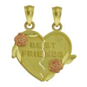 10K Two-Tone Gold Best Friends Pendants