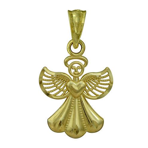 10K Yellow Gold Angel Charm