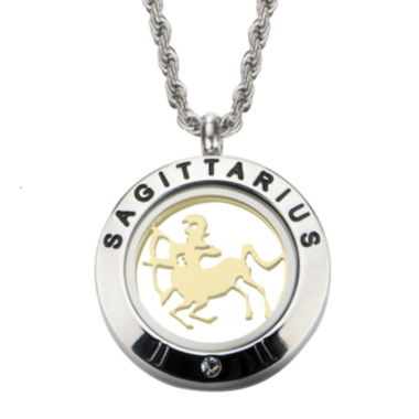 jcpenney.com | Sagittarius Zodiac Reversible Two-Tone Stainless Steel Locket Pendant Necklace